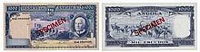 Paper Money - Angola 1000$00 1970 SPECIMEN