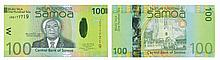 Paper Money - Samoa 100 Tala ND (2008)