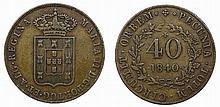 Mozambique - D. Maria II - 40 Reis 1840