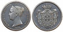 Portugal - D. Maria II - 1000 Reis 1836, Essai