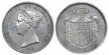 Portugal - D. Maria II - 1000 Reis 1837, SCARCE