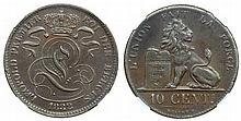 Belgium - 10 Centimes 1832 NGC AU-50 BN