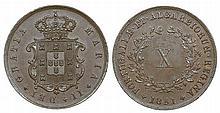 Portugal - D. Maria II - X Reis 1851