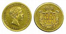 Portugal - D. Pedro V - 1000 Reis 1855