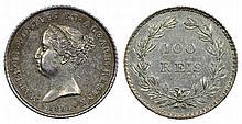Portugal - D. Maria II - 100 Reis 1851