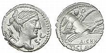 Roman Republic  - Denarius nd, Ti. Claudius Ti.f. Ap.n. Nero
