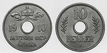 German East Africa - 10 Heller 1910 J
