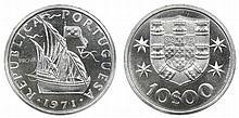 Portugal - Republic - 10$00 1971 Pattern