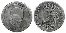 Azores - D. Luis I - 4 Reales 1822 Ferdinand VII with crowned G.P. countermark