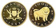 Macau - 1000 Patacas 1982, Dog