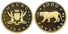 Macau - 1000 Patacas 1986, Tiger