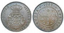 Angola - D. Pedro V - 1/2 Macuta 1858