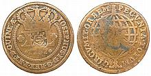 Angola - D. Joao Prince Regent - XL Reis 1757 GUINEAE, with shield countermark