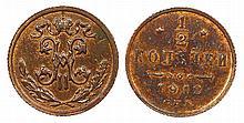 Russia - 1/2 Kopek 1912