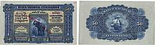 Paper Money - Portuguese India - Nova Goa 50 Rupias 1924 SPECIMEN