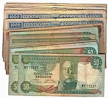 Paper money - Angola 37 expl. 50$00, 100$00, 1000$00 1970-1972