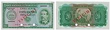 Paper money - Cape Verde 20$00 1972, SPECIMEN