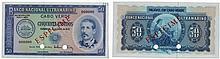 Paper money - Cape Verde 50$00 1972, SPECIMEN