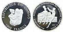 Congo - 1000 Francs 2001
