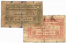 Paper money - Mozambique 2 expl. 2, 5 Centavos nd