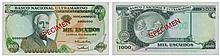 Paper money - Mozambique 1000$00 1972, SPECIMEN