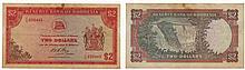 Paper money - Rhodesia 2 Dollars 1974