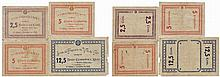 Cédula - Calheta (Açores) 4 expl. 2/5, 5 (2), 12/5 Centavos 1922