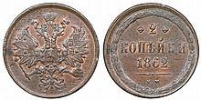 Russia - 2 Kopeks 1862