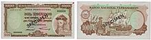 Paper Money - Portuguese India 1000$00 1959 SPECIMEN