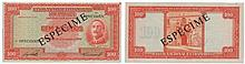 Paper money - Mozambique 100$00 1950, SPECIMEN