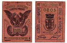 Paper money - Mozambique 5 Centavos nd