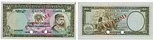 Paper money - Portuguese Guinea 50$00 1971, SPECIMEN