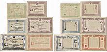 Cédula - Velas (Açores) 6 expl. 2, 2/5, 5, 10, 12/5, 25 Centavos 1921 / 1922