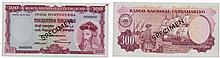 Paper Money - Portuguese India 300$00 1959 SPECIMEN