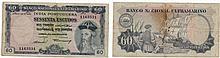Paper money - Portuguese India Índia 60$00 1959