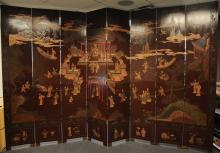 Set of (2) Eight-Panel Coromandel Screens