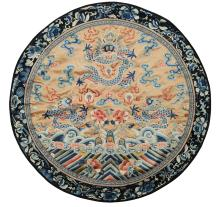 Round Dragon Embroidery, 19th Century