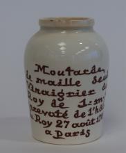 Porcelain Mustard Jar
