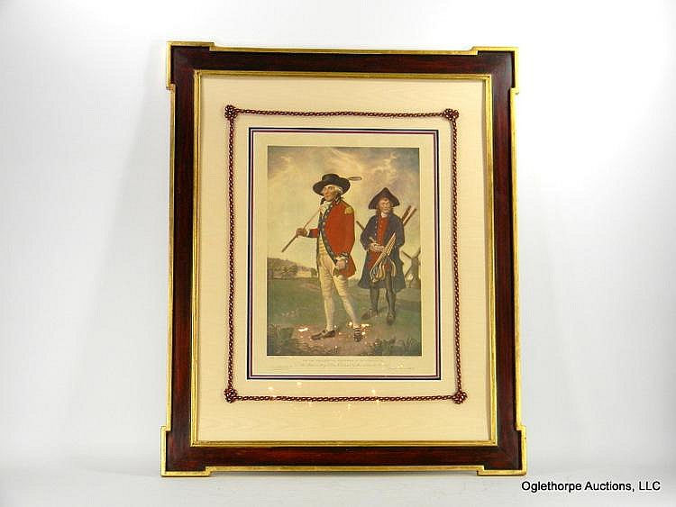 LARGE FRAMED LITHOGRAPH