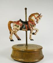 Porcelain Horse on Wooden Base