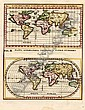 [ World Maps, Title Pages, Celestial Charts ] World (Mappa Geographica Universalis in Plano et Figura Quadrata / Mappa Geographica Universalis