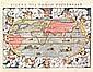 Figura del Mondo Universale World Sebastian Munster 1571  B+