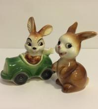 Pair GOEBEL Full Bee/W. Germany Porcelain Rabbits