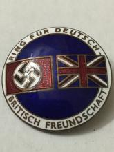 Nazi/Germany & Britain Enameled Peace Proposal Pin