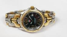 tag heuer WT1151 18kt & ss large mens watch