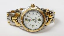 tag heuer WT1150 18kt & ss large mens watch