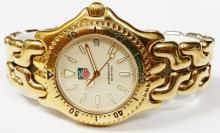 TAG HEUER LINK PROFESSIONAL 18K GOLD PLATED WATCH S94.006