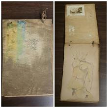 Egon Schiele Signed 1916-1917 Sketch Book