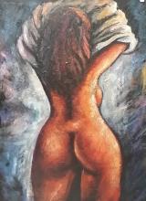 Very Large Oil on Canvas by Konstanty Gorbatowski