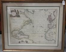 Old Map Framed